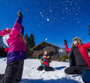 jeu neige famille